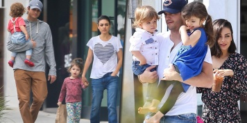 Mila Kunis and Ashton Kutcher are still 'over the moon' as a family