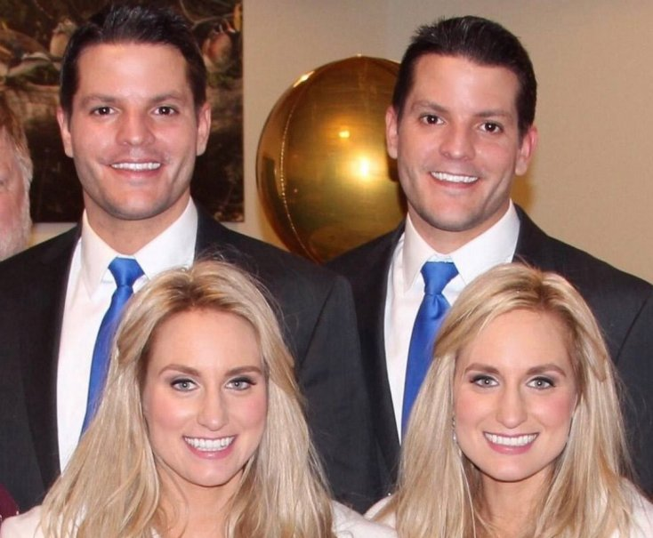 Identical twin sisters marry identical twin brothers 1