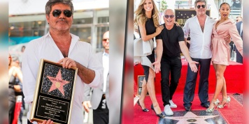 Simon Cowell received his Walk of Fame star and everyone was there to support him!