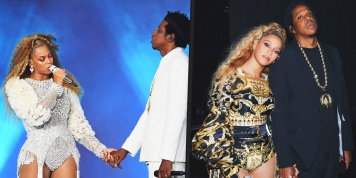 Beyonce and Jay-Z were chased after on the stage by a fan during On The Run II Tour! (Video)