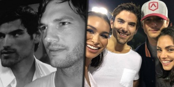 Ashton Kutcher meets his Bachelor look-alike Jared Haibon