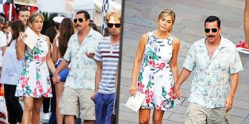 Jennifer Aniston and Adam Sandler spotted holding hands