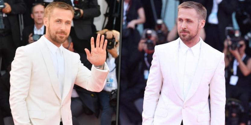 Bring in the oxygen tanks cause Ryan Gosling just walked at the Venice Film Festival