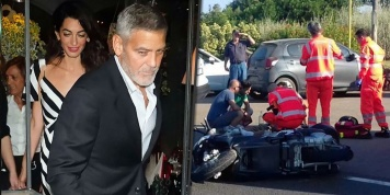 George Clooney and his wife appear on a romantic date 3 weeks after his accident