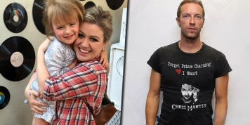 Kelly Clarkson daughter wants to KISS Chris Martin!