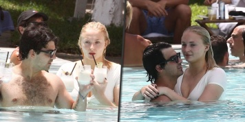 Joe Jonas celebrates his birthday early with Sophie Turner with steamy poolside PDA!